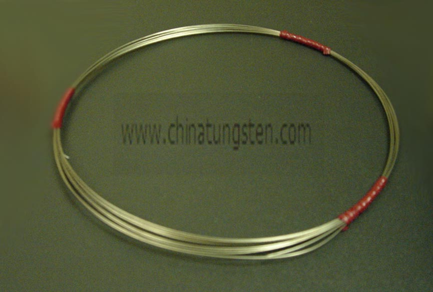cleaned tungsten wire production process